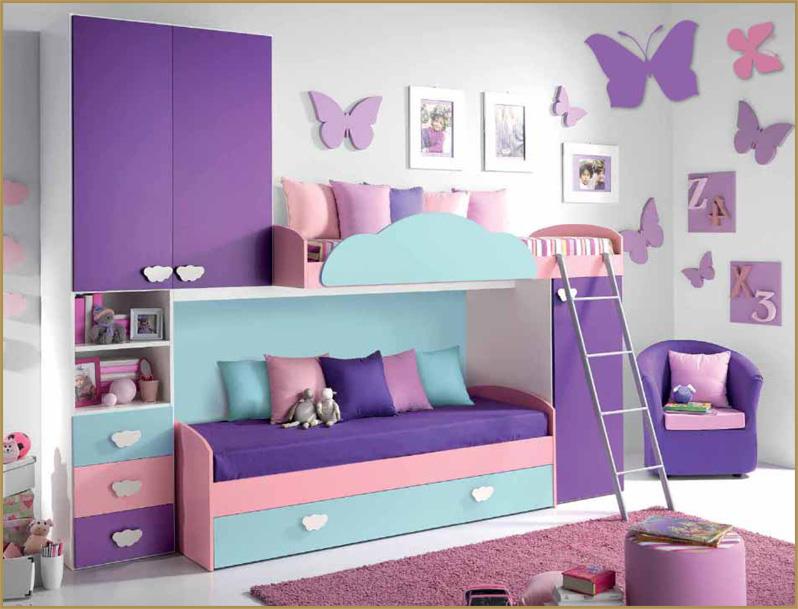 Camerette a soppalco camere bimbi arredamento for Camere da letto per ragazze ikea