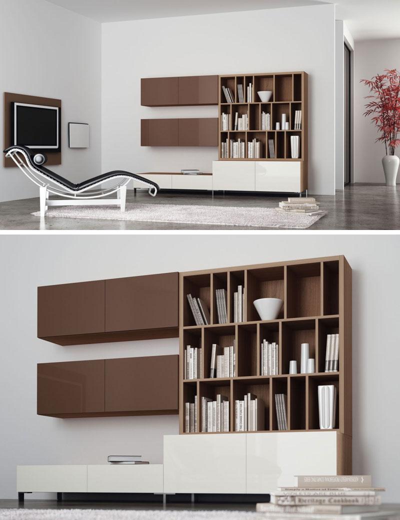 Stock soggiorni cubo soggiorni librerie for Arredamento stock