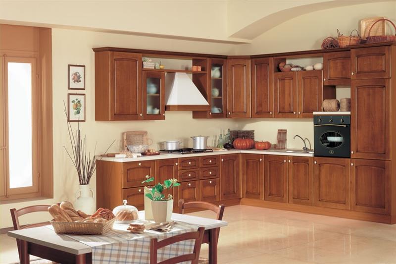 Promo cucina bea in legno cucine arredamento - Colore muri cucina ...