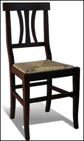 Sedie In Legno Arte Povera.Sedia Arte Povera Noce Legno E Paglia Tavoli Sedie