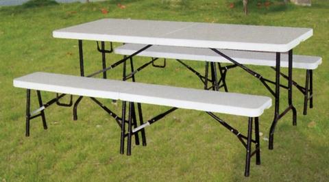 Tavoli In Pvc Pieghevoli.Tavoli E Panche Pieghevoli Legno O Pvc Dehor Garden