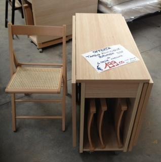 Tavolo richiudibile 4 sedie pieghevoli tavoli sedie - Tavolo richiudibile in legno ...
