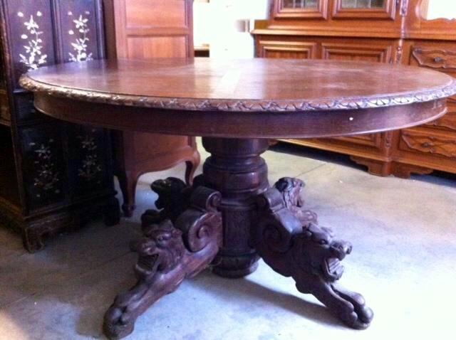 Tavolo Ovale Antico : Tavolo ovale antico mobili vintage & collezionismo comfal